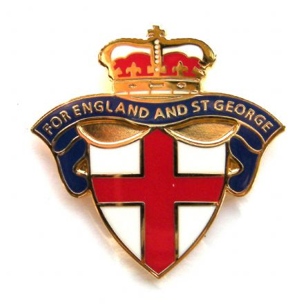 "England Badge ""For England and St George"" - Blue"
